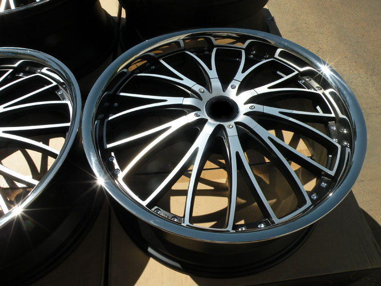 "22"" Ace Eminence Wheels Bentley Continental GT GTC Flying Spur Machined Black"