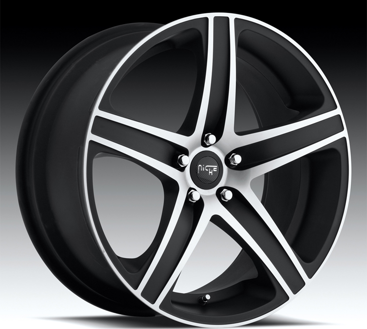 19 Niche Euro 5 Wheels Black Mercedes E Class E350 E550 E63 AMG MHT