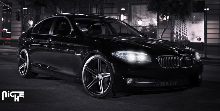 Wheels Black BMW 3 Series 328 335 F30 Staggered Concave MHT Rims