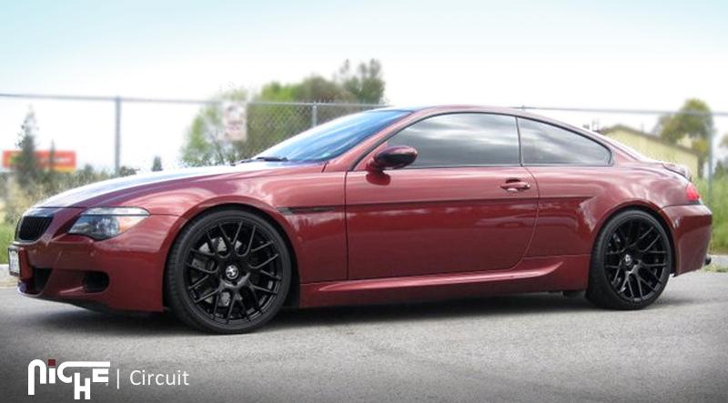 18 MHT Niche Circuit Wheels Black BMW 3 Series 325 328 330 335 E90