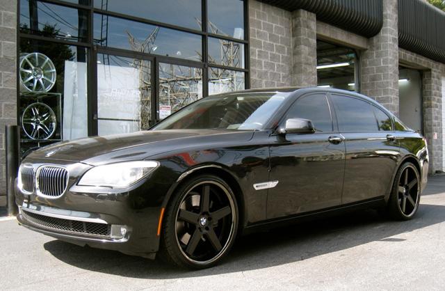 """22"""" Niche MHT Nurburg Wheels Black BMW 7 Series 745 750 760 B7 E65 E66 Staggered"""