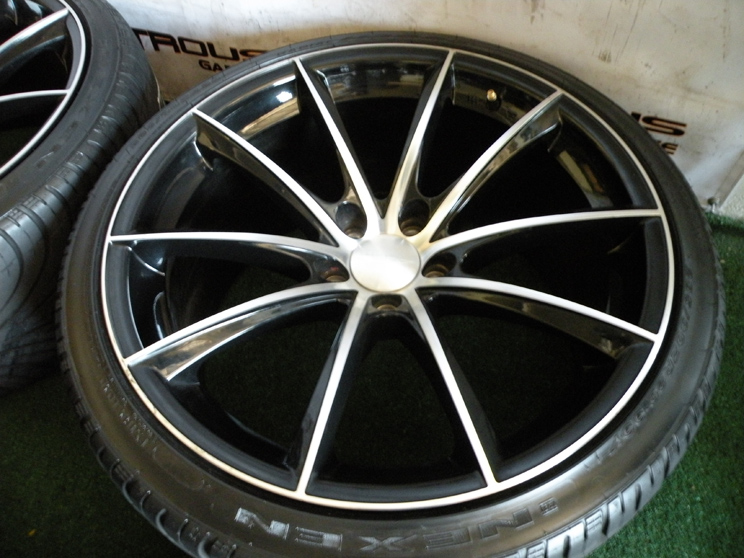 "20"" Ace Convex Wheels Black Machiend Maserati Quattroporte s GTS Nexen Tires 19"